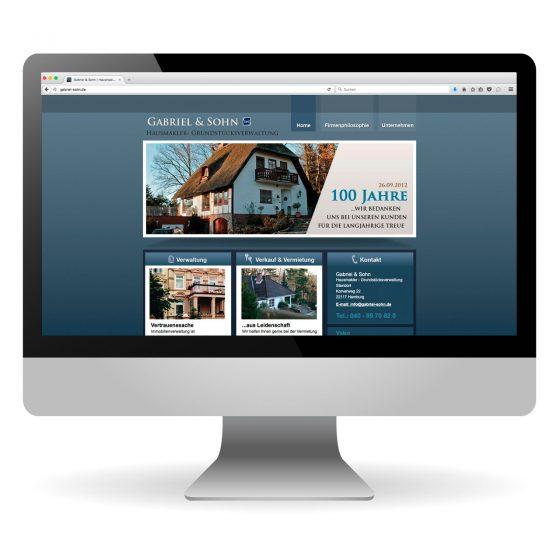 Webdesign   Gabriel und Sohn – Immobilien, Verkauf, Verwaltung, Vermietung