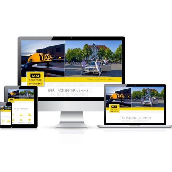 Webseite & Flyer   Taxi Schöttler