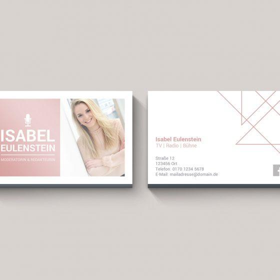 Visitenkarten   Isabel Eulenstein   Moderatorin & Redakteurin